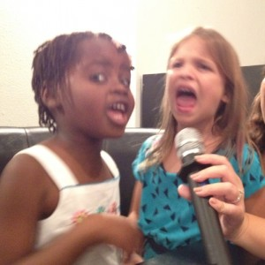 The Girls Singing Karaoke